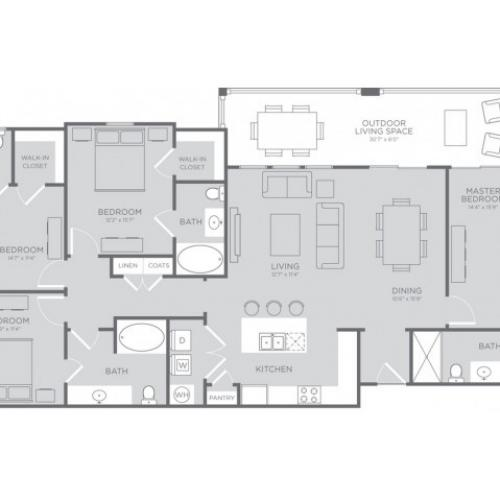 Floor Plan 8 | Apartments For Rent In Seabrook TX | The Towers of Seabrook