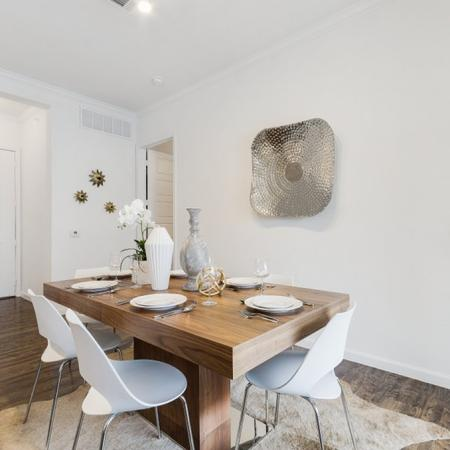 Elegant Dining Room | CONROE Apartments | The Grand Estates in the Forest