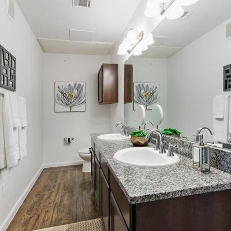 Spacious Master Bathroom | CONROE Texas Apartments | The Grand Estates in the Forest