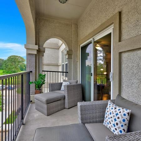 Spacious Apartment Balcony | CONROE Apartments | The Grand Estates in the Forest