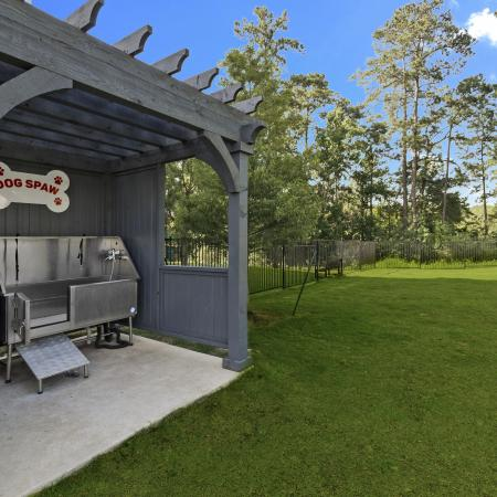 Community Dog Spa | Apartments in Conroe | The Towers Woodland
