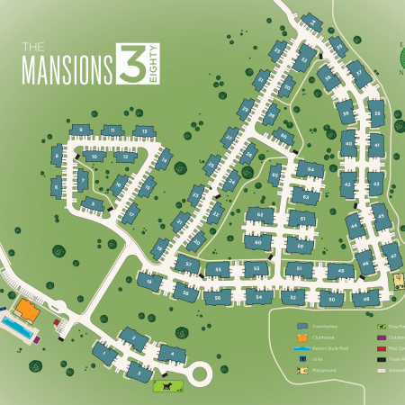 Site Plan | Apartments In Little Elm TX | The Mansions 3Eighty