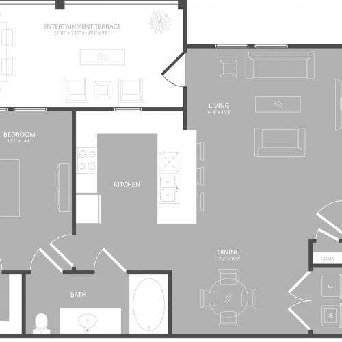 Floor Plan 2 | 3 Bedroom Apartments In Garland TX | The Towers at Spring Creek