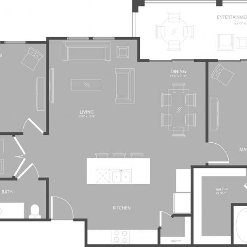 Floor Plan 4 | Apartments Garland TX | The Towers at Spring Creek