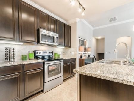 Modern Kitchen   Apartment Homes In SAN ANTONIO   The Mansions at Briggs Ranch