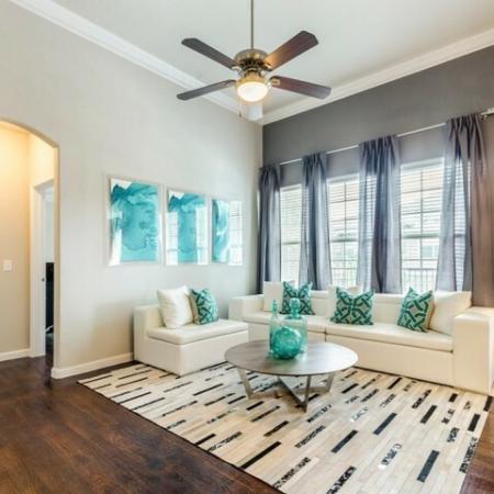 Elegant Living Room | SAN ANTONIO Apartments | The Mansions at Briggs Ranch