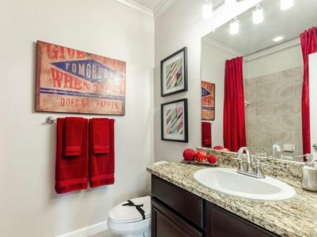 Spacious Bathroom   Apartment Homes In SAN ANTONIO   The Mansions at Briggs Ranch