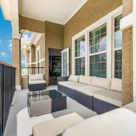 Spacious Apartment Balcony | SAN ANTONIO Apartments | The Mansions at Briggs Ranch