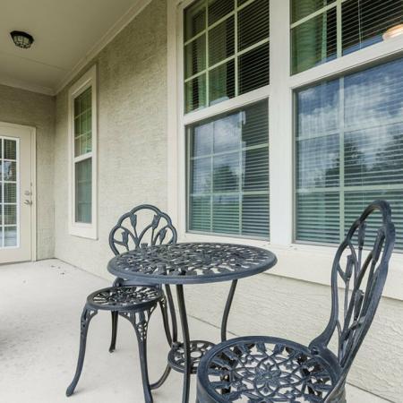 Spacious Porch Area   San Antonio Texas Apartments for Rent   The Estates at Briggs Ranch