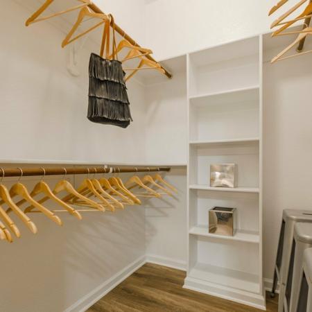 Open Closet | MAGNOLIA Texas Apartments for Rent | The Estates Woodland
