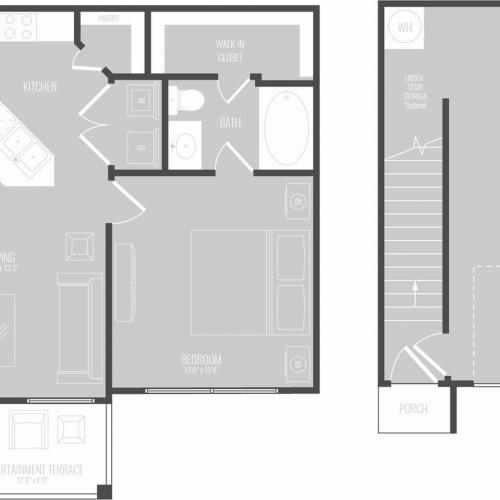 Floor Plan 1 | Luxury Apartments In Georgetown TX | Mansions of Georgetown