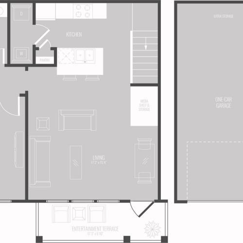 Floor Plan 2 | Apartments In Georgetown TX | Mansions of Georgetown