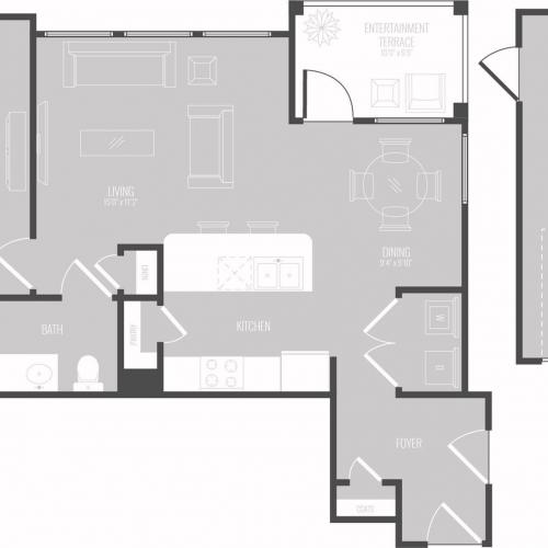 Floor Plan 3 | Apartments In Georgetown TX For Rent | Mansions of Georgetown