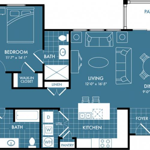 Floor Plan 6 | Apartments In Magnolia | The Estates Woodland