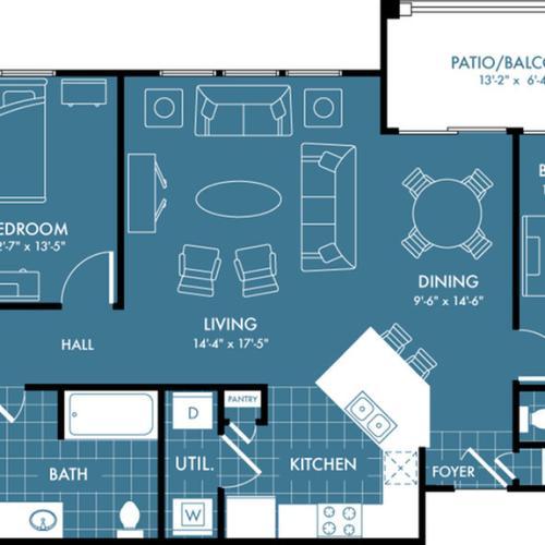 Floor Plan 5 | Apartments In Magnolia TX | The Estates Woodland