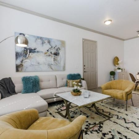 Elegant Living Room | 3 Bedroom Apartments In Garland TX | The Mansions at Spring Creek