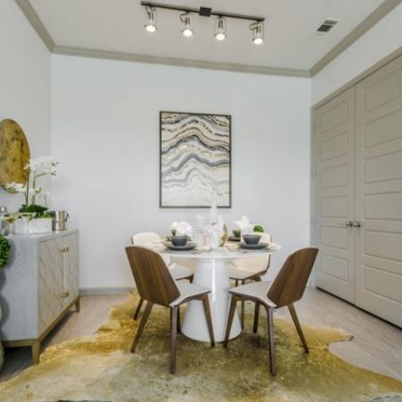 Luxurious Dining Room   Apartments Richardson Texas   The Mansions at Spring Creek