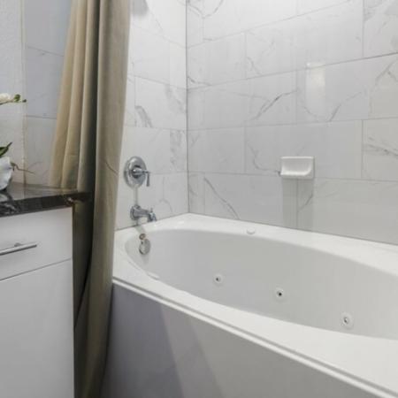 Spacious Bathroom   Apartments In Garland TX   The Mansions at Spring Creek