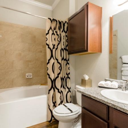 Elegant Bathroom | Little Elm TX Apartments | The Estates 3Eighty