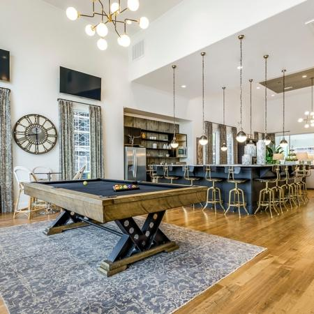 Resident Billiards Table | New Braunfels Apartments For Rent | The Luxe at Creekside