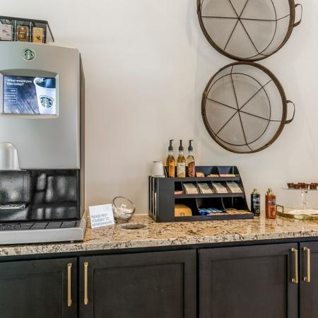 Resident Coffee Bar | Apartments For Rent New Braunfels TX | The Luxe at Creekside