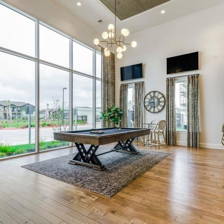 Resident Pool Table | Apartments For Rent New Braunfels TX | The Luxe at Creekside