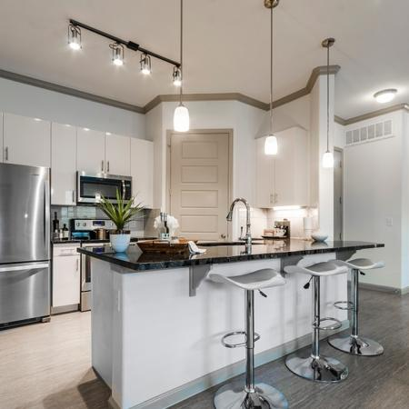 Upscale Kitchen Area   Apartments For Rent In Richardson Texas   The Mansions at Spring Creek