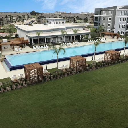 Sparkling Pool | Apartments New Braunfels TX | The Luxe at Creekside