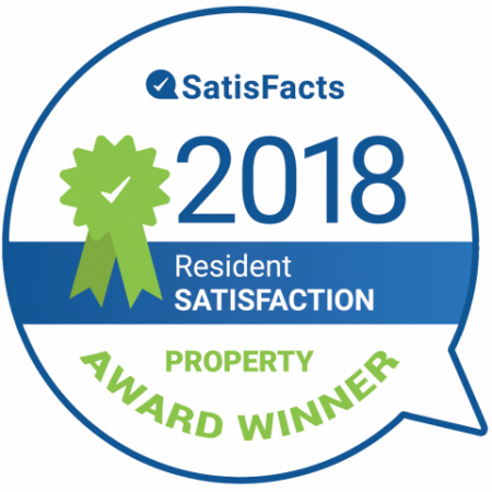 SatisFacts Resident Satisfaction Award | Apartments Conroe TX | The Towers Woodland