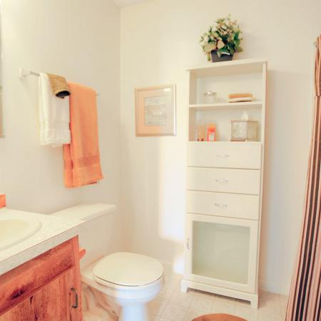 Gorgeous bathroom design at our apartment homes for rent in Nashua NH