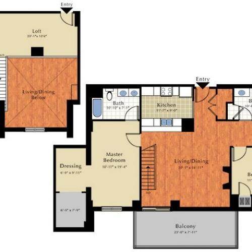 Floor Plan 4 | Apartment In Lowell Ma | Grandview Apartments