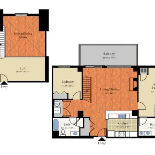 Floor Plan 6 | Apartment For Rent In Lowell Ma | Grandview Apartments