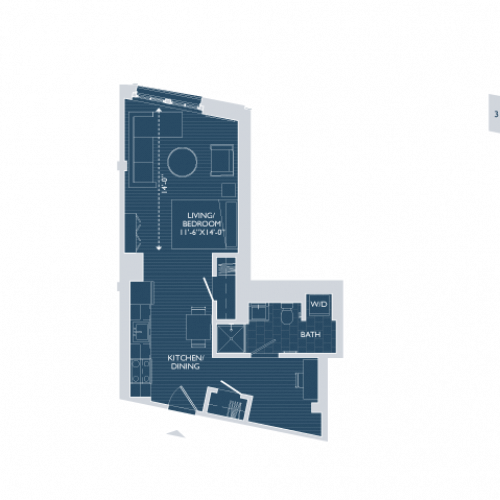 Studio Floor Plan | Apartments For Rent In Boston Ma | 381 Congress