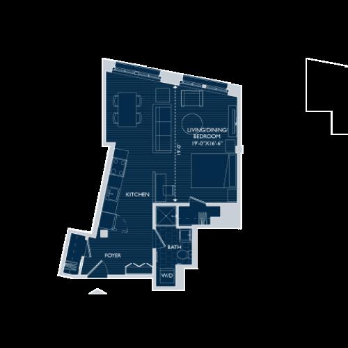 Floor Plan 1 | Boston Seaport Apartments | 381 Congress
