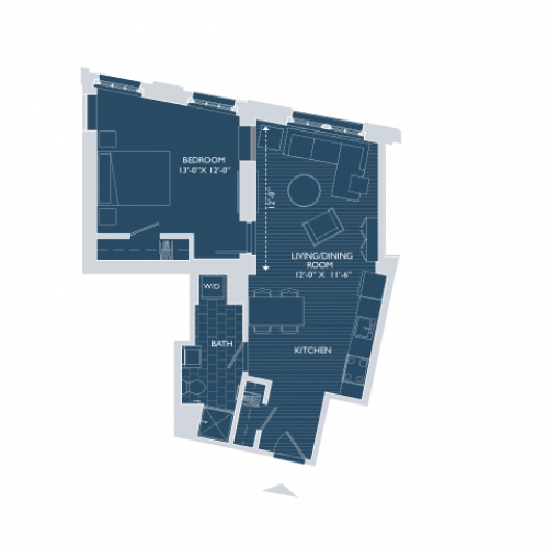 Floor Plan 2 | South Boston Apartments | 381 Congress