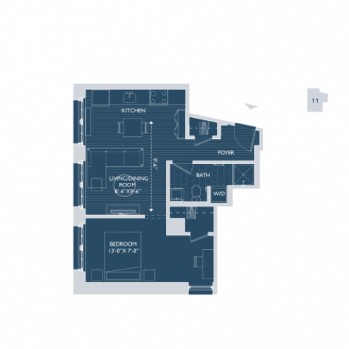 Floor Plan 8 | Apartments For Rent In Boston Ma | 381 Congress
