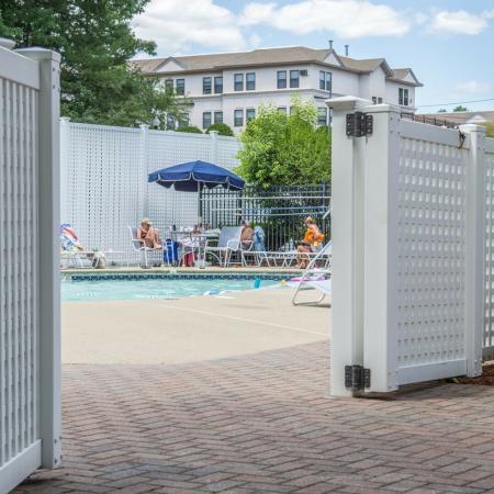 Sparkling pool at our Nashua NH apartments