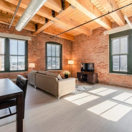 Spacious Living Room | Boston Seaport Apartments | 381 Congress