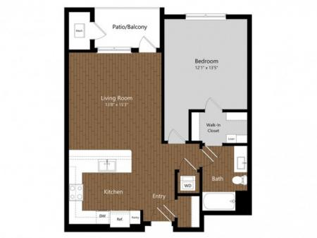 1 Bedroom Floor Plan | Princeton North Andover | Apartments For Rent North Andover MA | Official Website | Princeton North Andover