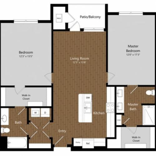 Sage 4 2 Bdrm Floor Plan   Amenities   Apartments In North Andover MA           Princeton North Andover