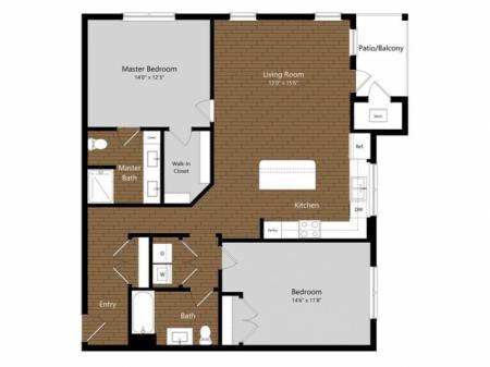 Sage 5 | 2 Bdrm Floor Plan | Amenities | Apartments In North Andover MA         | Princeton North Andover