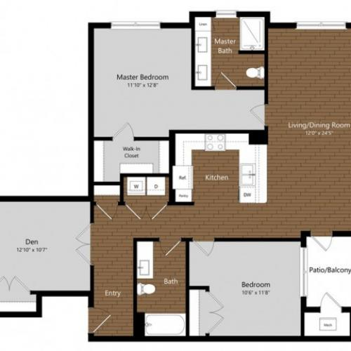 Juniper | 2 Bedroom Floor Plan | Photos | A Look Inside North Andover Apartments | Princeton North Andover