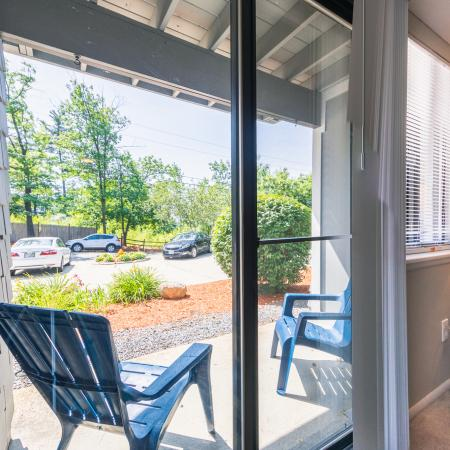 Decorated Porch Area | Apartments For Rent Nashua NH | Hilltop by Princeton Apartments