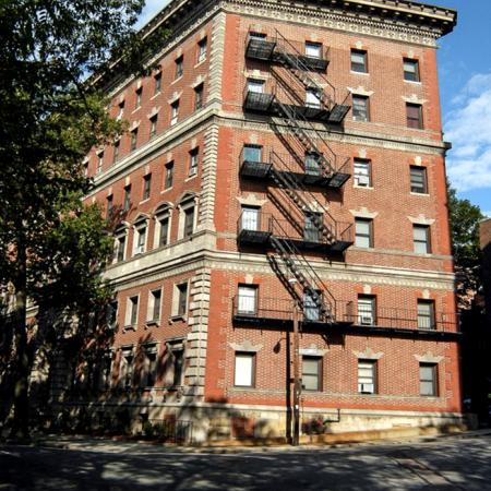 Exterior view of Princeton on Beacon, apartments in Brookline, MA