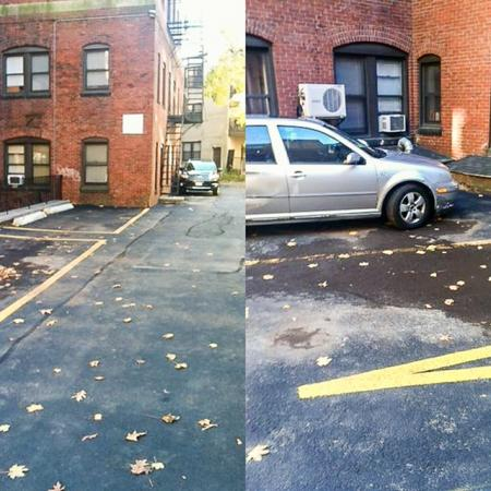 Parking area Apartments In Brookline MA | Princeton on Beacon Street