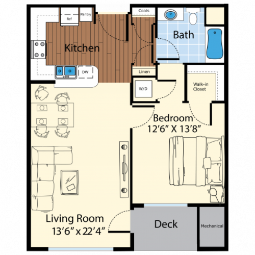 Floor Plan 2 | Apartments In Westford MA | Princeton Westford