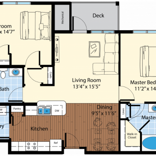 Floor Plan 5 | Westford Massachusetts Apartments | Princeton Westford