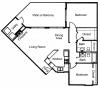 B2: 2 Bedroom, 2 Bathroom; 1067sqft