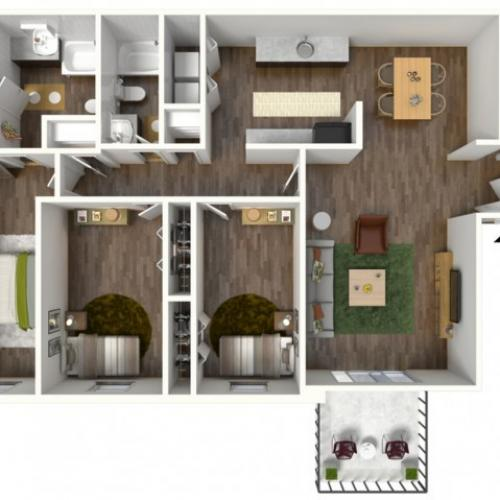 Madison: 3 Bedroom, 2 Bath Apartment 1400sqft