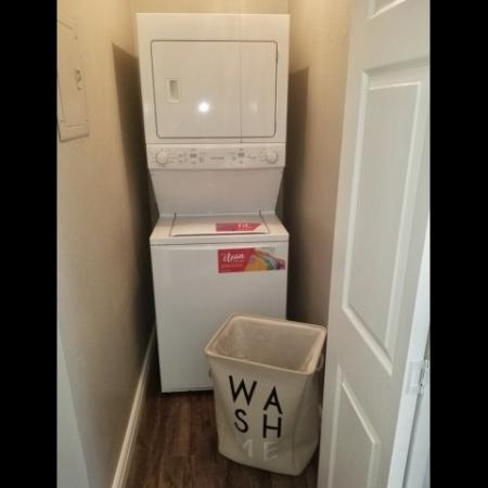 Stackable washer and dryer included in select renovated homes!
